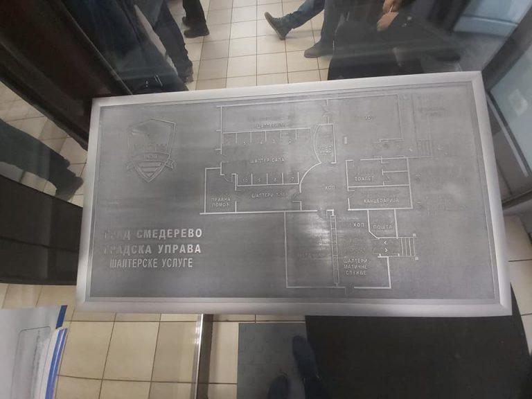 Постављене тактилне табле и стазе у Смедереву